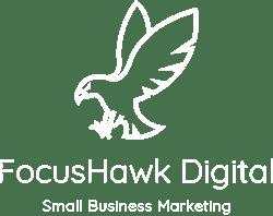 FocusHawk_Simple_Vertical_White on Transparent